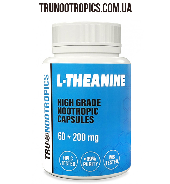 L-Theanine 60 капсул, 200 мг.