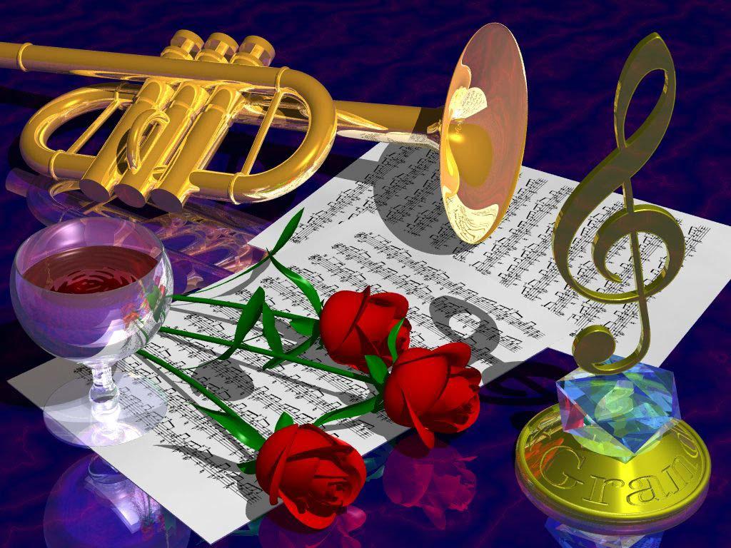 Музыкальные картинки и открытки